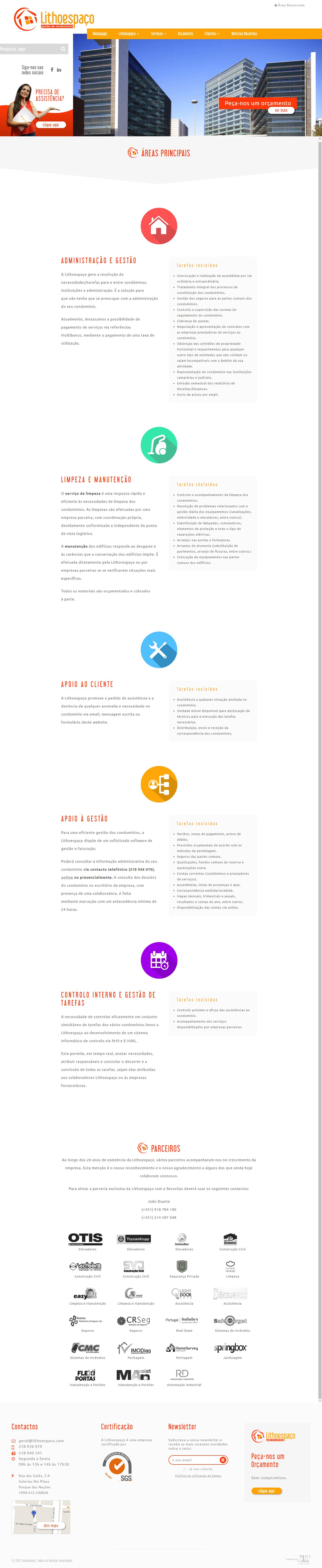 Lithoespaço | Novo website e estratégia de comunicação