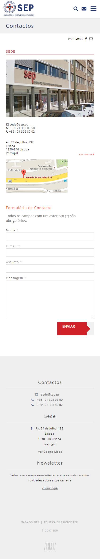 SEP | Website responsive e otimizado para motores de busca