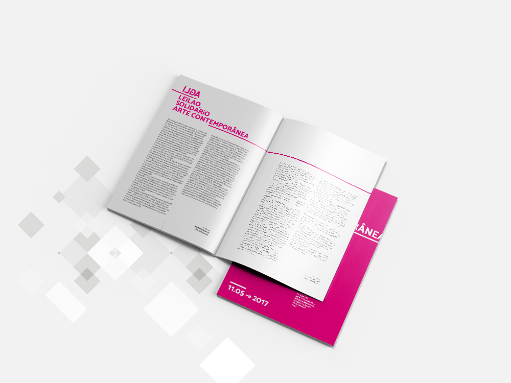 Leilão de arte | Catálogo e comunicação impressa