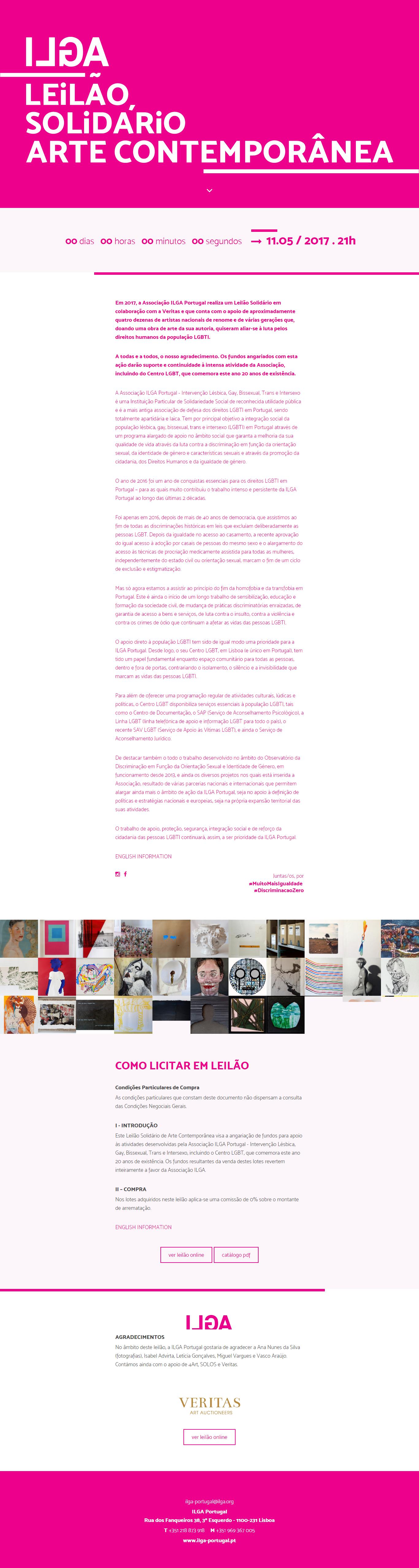 Leilão de arte | Landing page