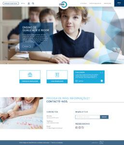 Colégio do Oeste | Layout website