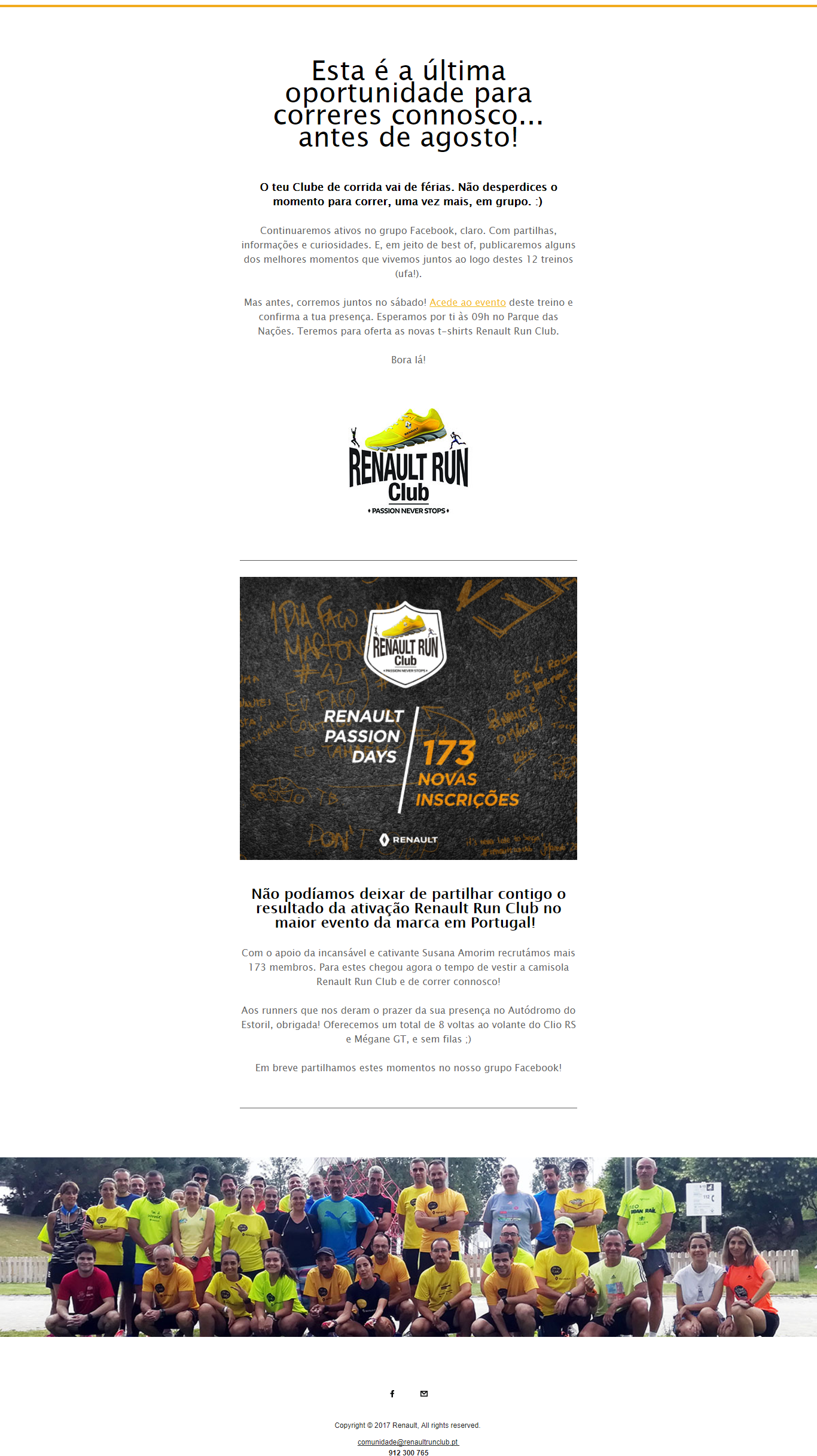 Renault Run Club | Email marketing