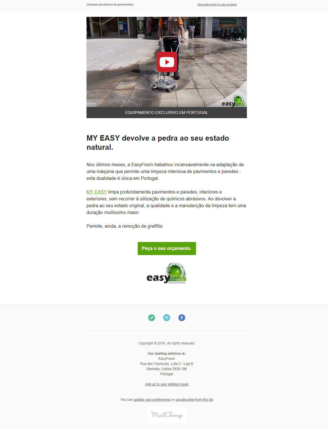 EasyFresh | Vídeo e email marketing