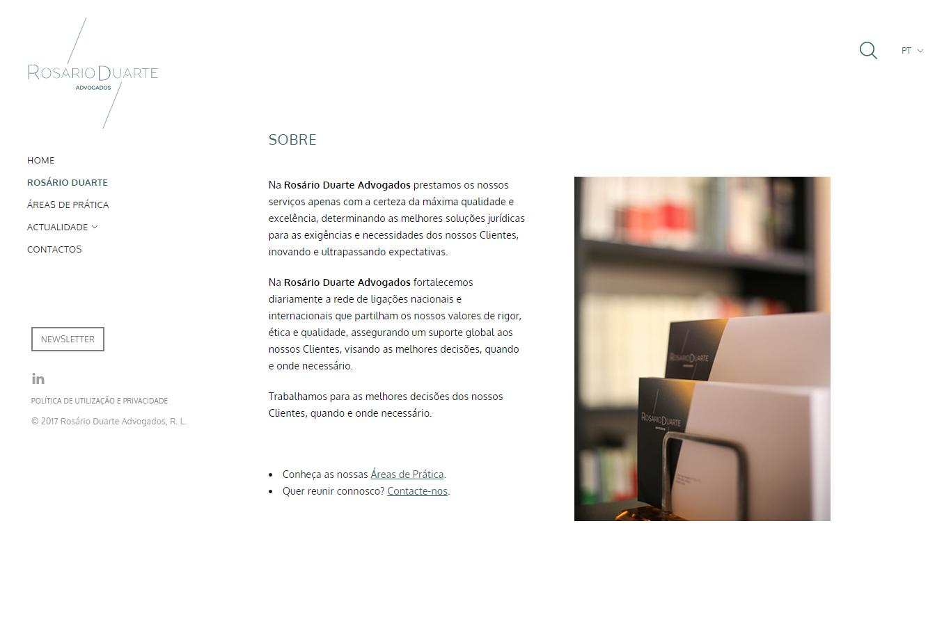 Rosário Duarte Advogados | Desenho e programação de website
